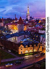 medieval, cidade velha, estónia, tallinn