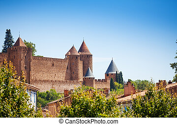 Medieval citadel city of Carcassonne in France