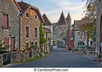 medieval city - an old medieval looking european street