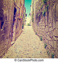 Medieval City  - Cobblestones in Medieval French City of ...