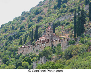 Medieval city of Mystras Laconia Greece