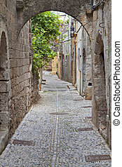 Medieval city of Rhodes island in Greece