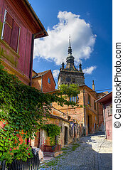 medieval city of sighisoara - medieval city if sighisoara in...