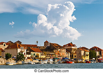 Medieval City Omis on the River Cetina in Croatia