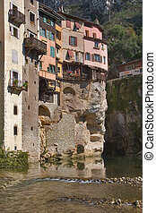Medieval city. - The medieval city constructed on rocks ...