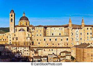 Medieval city Urbino in Italy