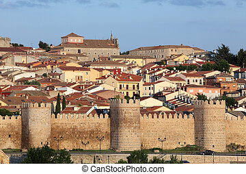 Medieval city walls of Avila, Castilla y Leon, Spain