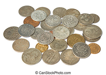 Medieval coins - Collection of the medieval coins on the...