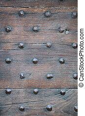 Medieval door in Paris