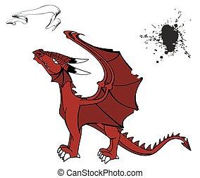 medieval dragon tattoo set4