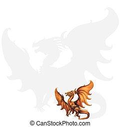Medieval dragon. Vector