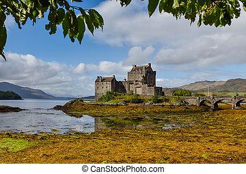 Eilean Donan castle in Dornie, Scotland