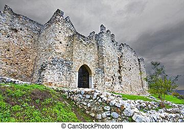 Medieval era castle of Platamonas in Greece