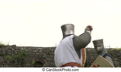 medieval fighting slow motion