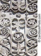 Medieval floral ornament