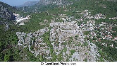 Medieval fortress Haj-Nehaj in Sutomore, Montenegro -...