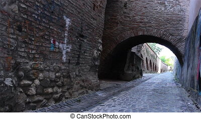 Medieval Fortress Tunnel - Arches and vaults in the defence...