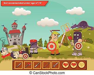 Medieval game scenery
