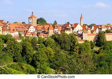 Medieval German village - View of the medieval town of...