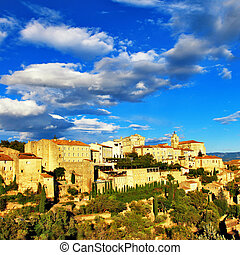 Scenery Of Old Medieval Town Gordes, France.