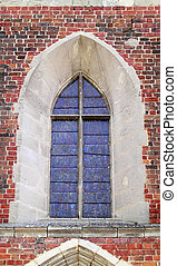 Medieval gothic church window
