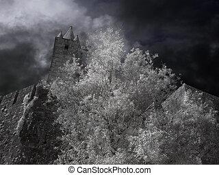 Medieval granite castle
