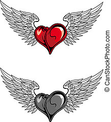 Medieval heart tattoo