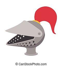 Medieval helmet cartoon icon