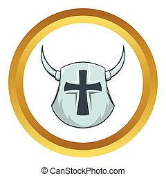 Medieval helmet vector icon