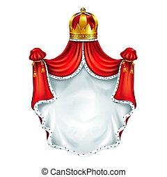 Medieval heraldic emblem realistic vector template -...