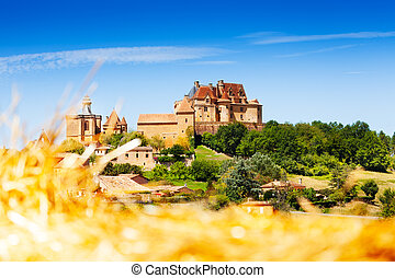 Medieval hill top village of Biron in France
