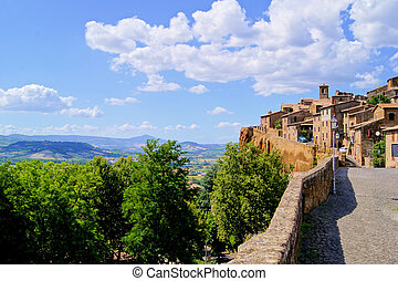 Medieval hill town in Umbria, Italy