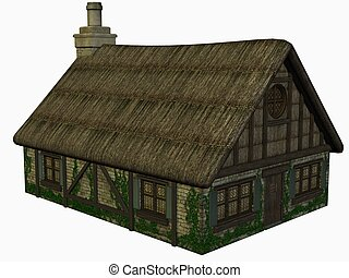 Medieval House - 3D Render