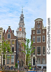 old town of Amsterdam, Netherlands