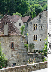 Medieval houses in St Cirq Lapopie