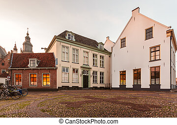 Medieval houses in the Dutch city of Zutphen