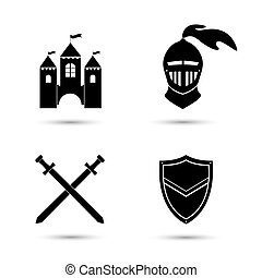 Medieval Icons Set