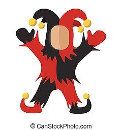 Medieval joker cartoon icon