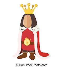 Medieval king cartoon icon