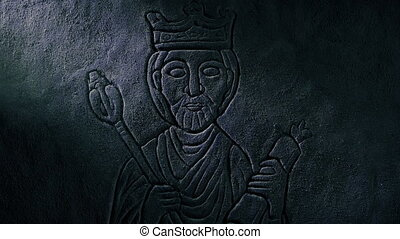Medieval King Carving Revealed In Tomb - Rock carving of a ...