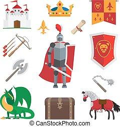 Medieval kingdom icons