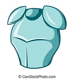Medieval knight armor icon, cartoon style