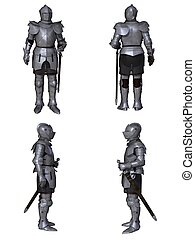 Medieval Knight Character Set