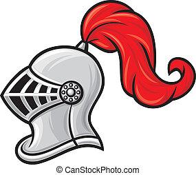 medieval knight helmet (knight head in helmet)