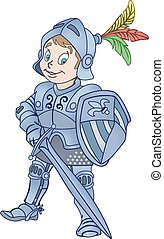 Medieval knight illustration - Medieval knight with sword ...