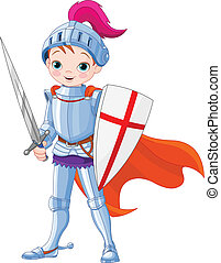 Medieval knight  - Illustration of little knight