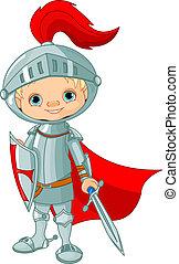 Medieval knight  - Illustration of little knight