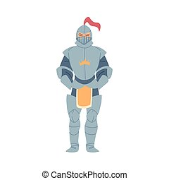 Medieval knight man vector design