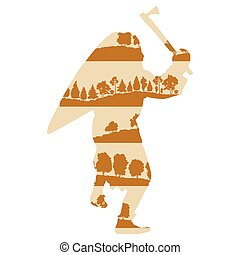 Medieval knight or ancient warrior vector background concept...