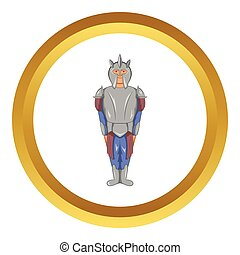 Medieval knight vector icon